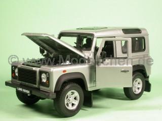Land Rover Defender kurz silber Modellauto Welly 1:24