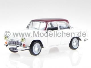 Simca P60 Monaco 1962 weiss Dach rot Modellauto in Vitrine 1:43
