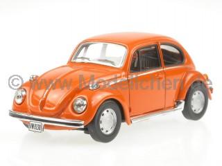 VW Käfer Beetle orange Modellauto Cararama 1:43