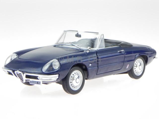 alfa romeo spider duetto 1600 1966 blau modellauto leo 1 24 ebay. Black Bedroom Furniture Sets. Home Design Ideas