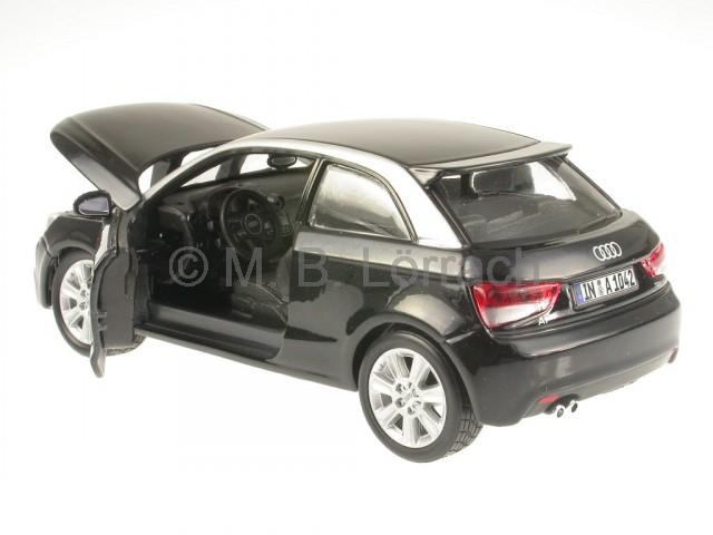 audi a1 schwarz modellauto 18 21058 bburago 1 24 ebay. Black Bedroom Furniture Sets. Home Design Ideas