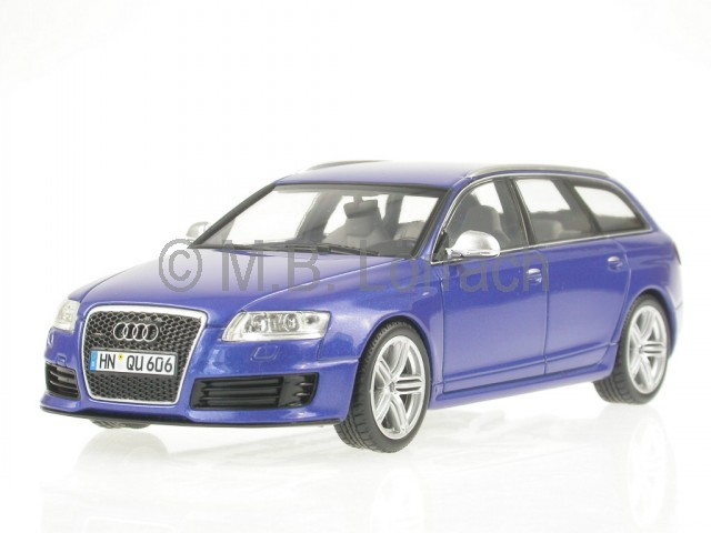 audi a6 c6 rs6 avant sepangblau modellauto minichamps 1 43. Black Bedroom Furniture Sets. Home Design Ideas