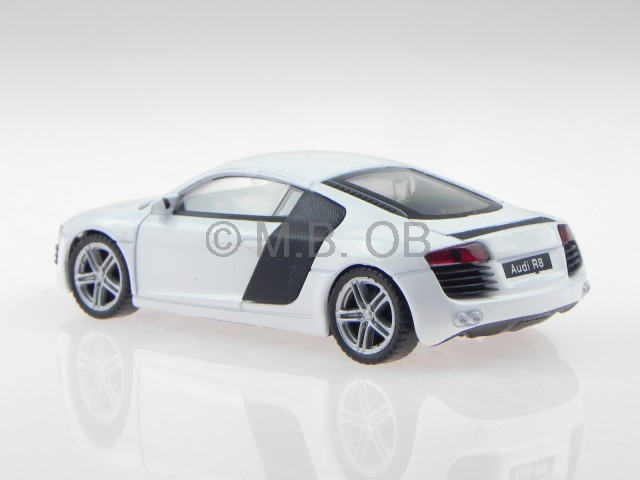 audi r8 coupe weiss modellauto welly 1 43 ebay. Black Bedroom Furniture Sets. Home Design Ideas