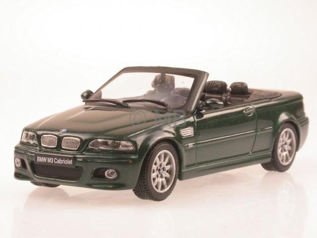 bmw e46 m3 cabrio gr n modellauto maxicar 1 43 ebay. Black Bedroom Furniture Sets. Home Design Ideas
