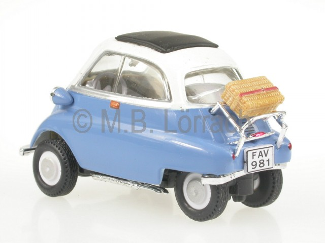 bmw isetta mit koffer modellauto cararama 1 43 ebay. Black Bedroom Furniture Sets. Home Design Ideas