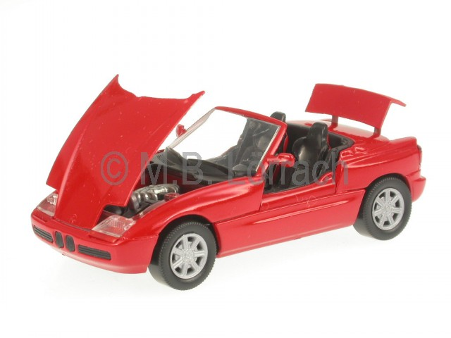 bmw z1 rot modellauto schabak 1 43 praezisionsmodell made in germany. Black Bedroom Furniture Sets. Home Design Ideas