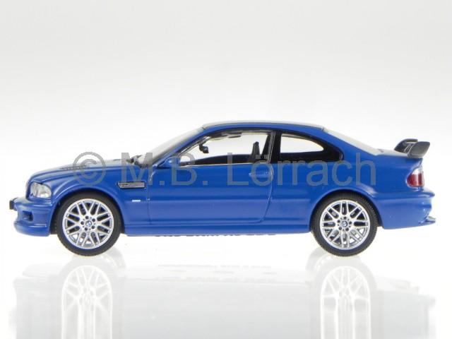 bmw e46 m3 gtr coupe blau modellauto 03531bl kyosho 1 43. Black Bedroom Furniture Sets. Home Design Ideas
