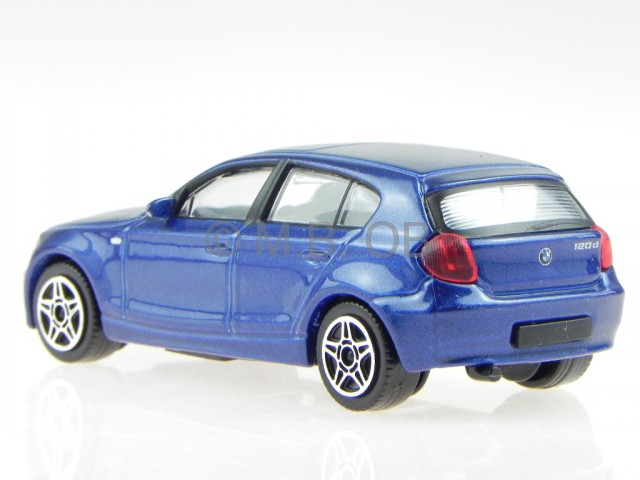 bmw e87 1er 120i blau modellauto 30181 bburago 1 43 ebay. Black Bedroom Furniture Sets. Home Design Ideas