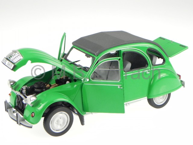 citroen 2cv ente gr uen modellauto norev 1 18 ebay. Black Bedroom Furniture Sets. Home Design Ideas