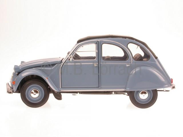 citroen 2cv 6 ente blue diecast model car welly 1 24 ebay. Black Bedroom Furniture Sets. Home Design Ideas