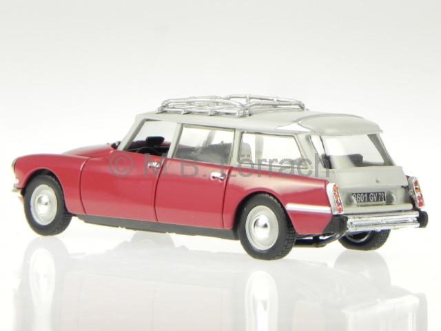 citroen ds id 19 break familiale 1967 rot weiss modellauto. Black Bedroom Furniture Sets. Home Design Ideas