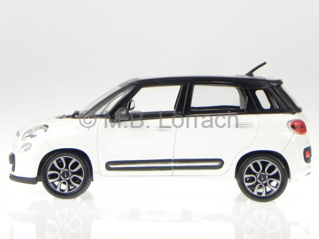 fiat 500l 500 l minivan 2012 wei modellauto 22126 bburago. Black Bedroom Furniture Sets. Home Design Ideas