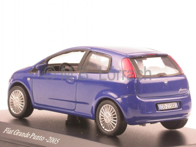 fiat grande punto 2005 blue diecast model car atlas 1 43 ebay. Black Bedroom Furniture Sets. Home Design Ideas