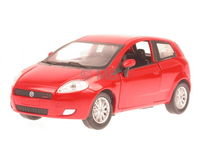 Fiat-Grande-Punto-red-diecast-model-car-NewRay-1-24