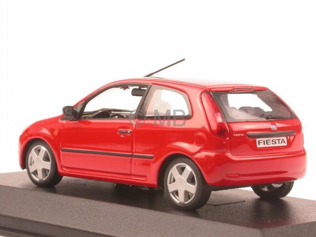 ford fiesta 2001 3d red diecast model car minichamps 1 43. Black Bedroom Furniture Sets. Home Design Ideas