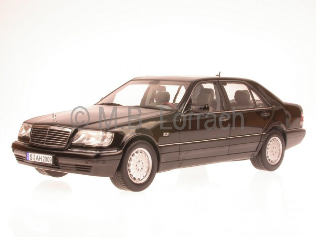 Mercedes w140 s class s600 diecast model car norev 1 18 ebay for Mercedes benz s600 ebay
