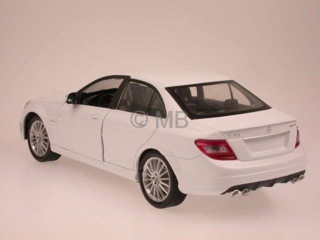 mercedes w204 c klasse c63amg weiss modellauto newray 1 24. Black Bedroom Furniture Sets. Home Design Ideas