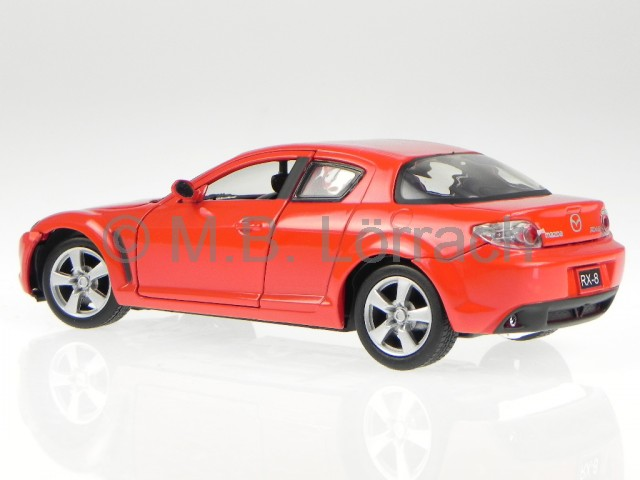 mazda rx 8 rx 8 rot modellauto 73323 motormax 1 24 ebay. Black Bedroom Furniture Sets. Home Design Ideas