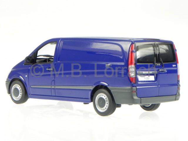 mercedes bm639 vito kastenwagen blau modellauto minichamps. Black Bedroom Furniture Sets. Home Design Ideas