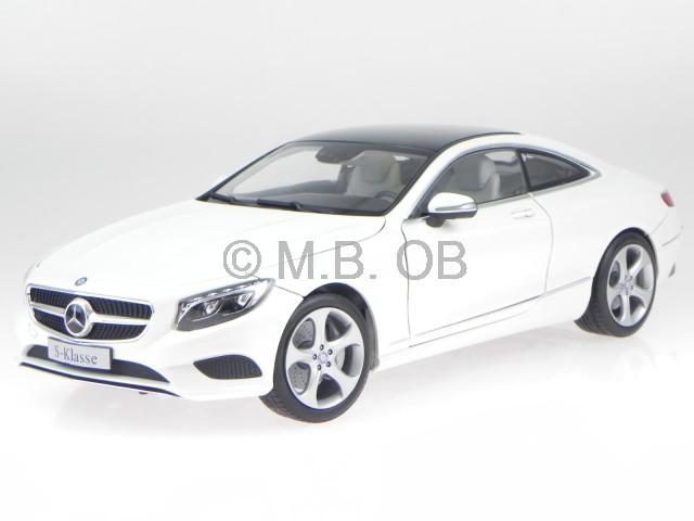 mercedes c217 s classe coupe 2014 diamant blanc v hicule miniature norev 1 18. Black Bedroom Furniture Sets. Home Design Ideas