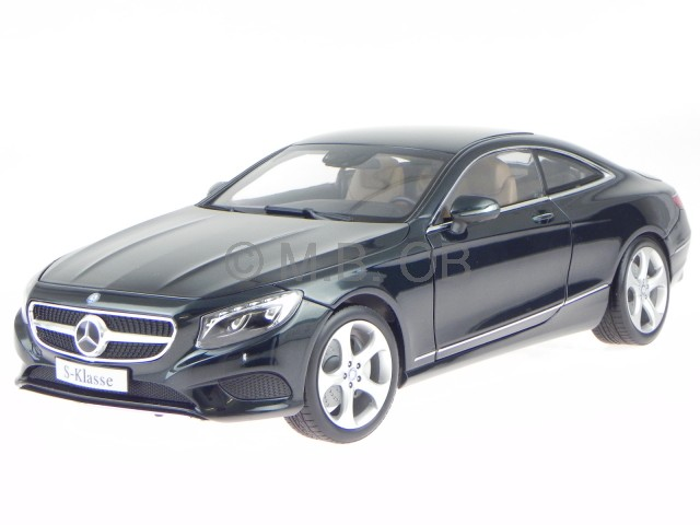 mercedes c217 s klasse coupe 2014 smaragd gr n modellauto norev 1 18 ebay. Black Bedroom Furniture Sets. Home Design Ideas