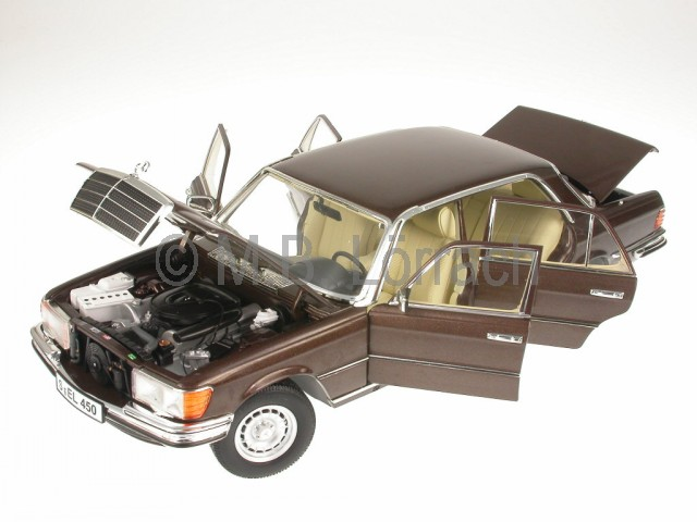 mercedes w116 s klasse 450 sel 6 9 braun modellauto revell. Black Bedroom Furniture Sets. Home Design Ideas