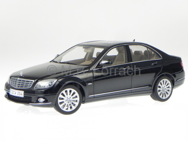 mercedes w204 c class elegance black diecast model car autoart 1 18 ebay. Black Bedroom Furniture Sets. Home Design Ideas