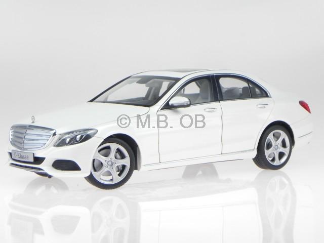 mercedes w205 c class exclusive 2014 white diecast model car norev1 18 ebay. Black Bedroom Furniture Sets. Home Design Ideas