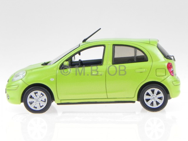 nissan micra march 2010 gruen modellauto jc201 j