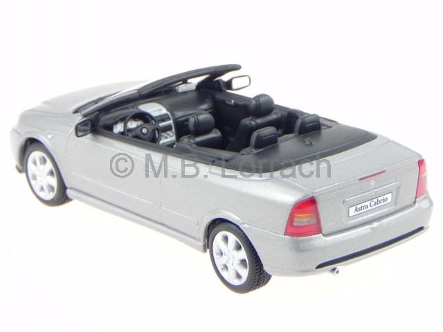 opel astra g cabrio silber modellauto minichamps 1 43 ebay. Black Bedroom Furniture Sets. Home Design Ideas