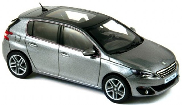 peugeot 308 artense grau 2013 modellauto 473809 norev 1 43. Black Bedroom Furniture Sets. Home Design Ideas