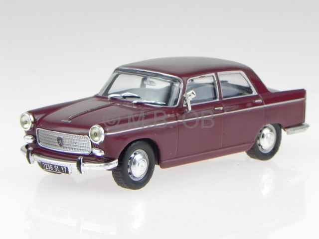 Peugeot-404-1965-brown-diecast-model-car-1-43