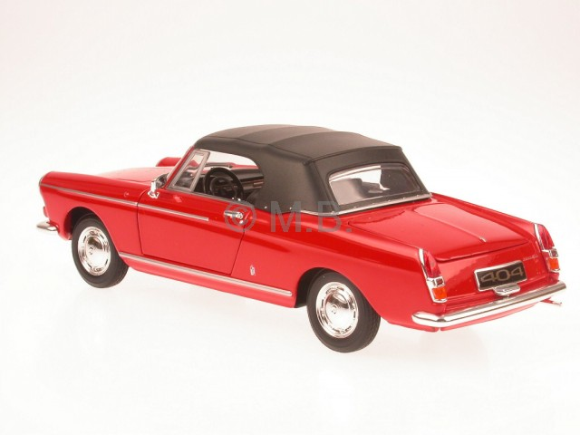peugeot 404 convertible softtop red diecast model car. Black Bedroom Furniture Sets. Home Design Ideas