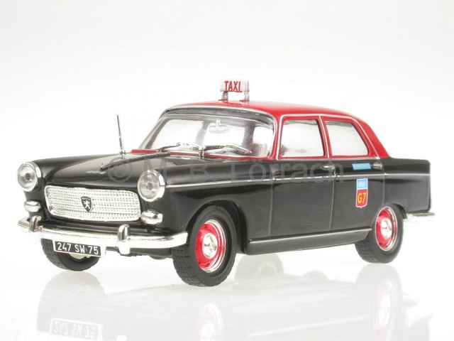 Peugeot-404-Taxi-Paris-1962-diecast-model-car-IXO-1-43