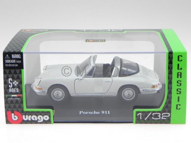 porsche 911 targa 1967 weiss modellauto 43214 bburago 1 32. Black Bedroom Furniture Sets. Home Design Ideas