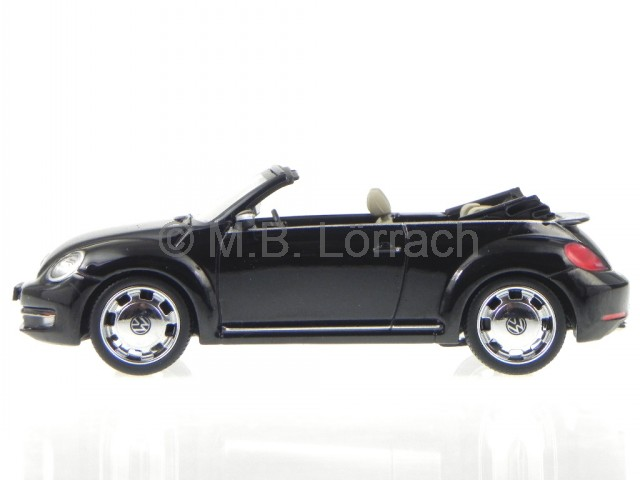 vw beetle cabrio schwarz deep black perleffekt modellauto schuco 1 43 ebay. Black Bedroom Furniture Sets. Home Design Ideas