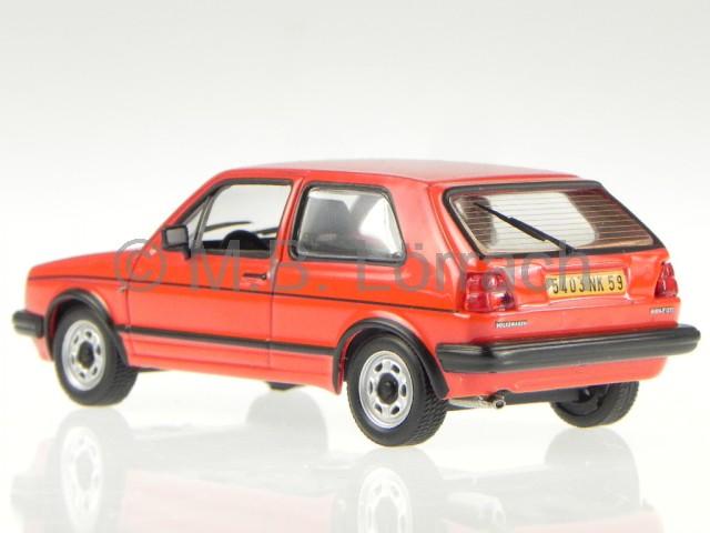 vw golf 2 gti 1984 rot modellauto 1 43 ebay. Black Bedroom Furniture Sets. Home Design Ideas