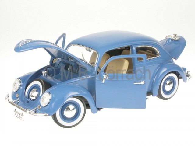 vw k fer beetle 1200 ovali blau modellauto bburago 1 18 ebay. Black Bedroom Furniture Sets. Home Design Ideas