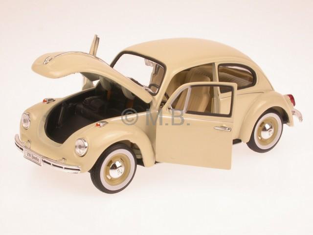 vw k fer beetle beige modellauto welly 1 24 ebay. Black Bedroom Furniture Sets. Home Design Ideas