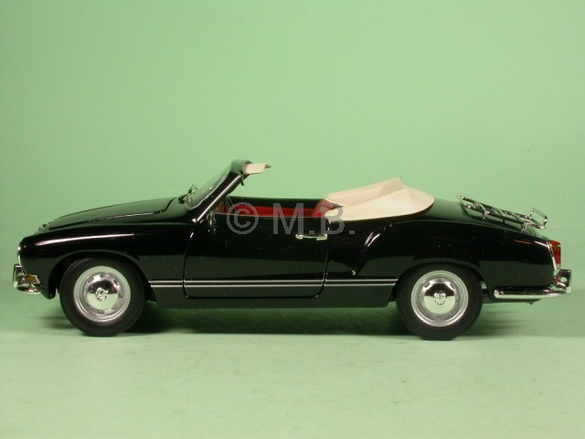 vw karmann ghia cabrio schwarz modellauto 241245016 minichamps 1 24 ebay. Black Bedroom Furniture Sets. Home Design Ideas