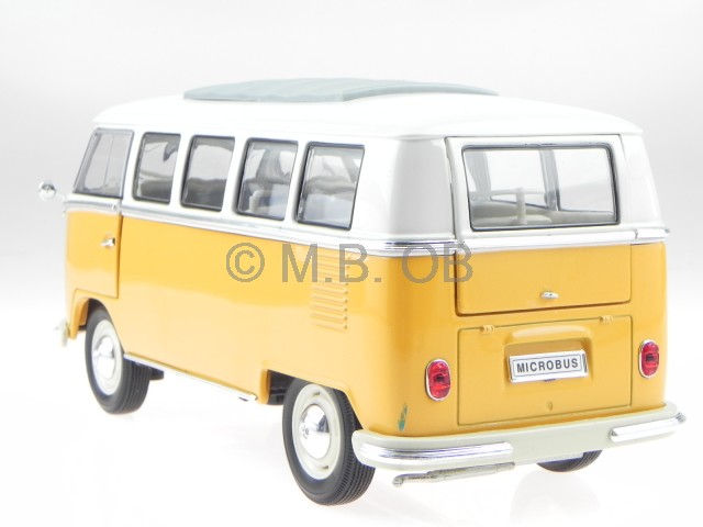 vw t1 bus bulli microbus 1962 yellow diecast model. Black Bedroom Furniture Sets. Home Design Ideas