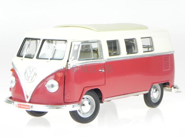 vw t1 bus bulli samba van red diecast model car yatming 1. Black Bedroom Furniture Sets. Home Design Ideas