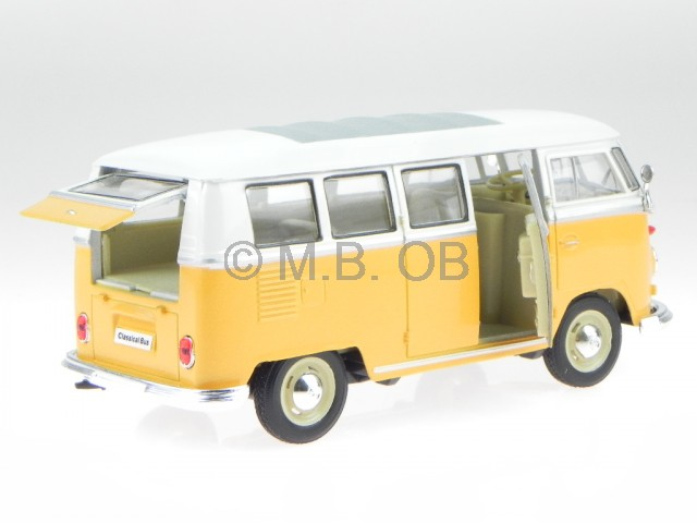 vw t1 van bulli yellow white diecast model car 22095 welly. Black Bedroom Furniture Sets. Home Design Ideas