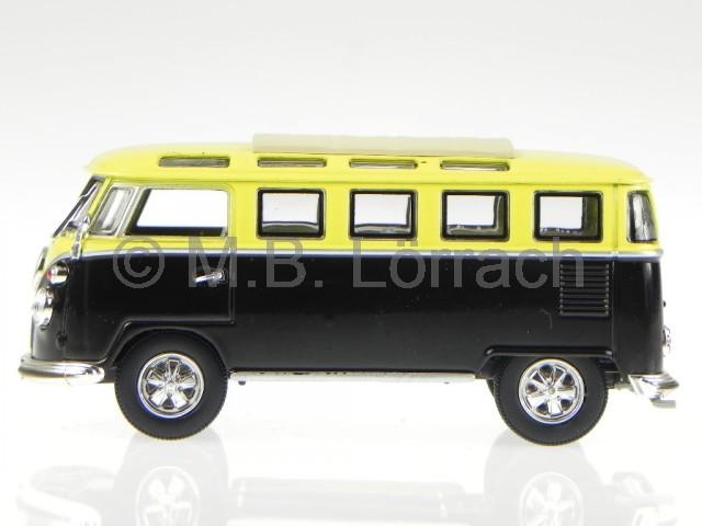 vw t1 samba bus bulli 1962 gelb schwarz modellauto yatming. Black Bedroom Furniture Sets. Home Design Ideas