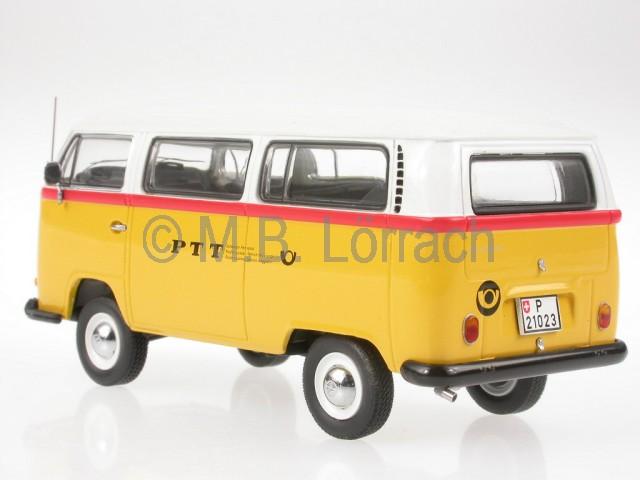 vw t2a bus bulli ptt schweiz diecast model car schuco 1 43. Black Bedroom Furniture Sets. Home Design Ideas
