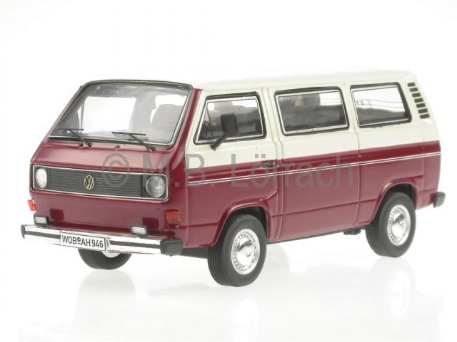 vw t3a t3 bus l bulli rot weiss modellauto 11457 premium. Black Bedroom Furniture Sets. Home Design Ideas