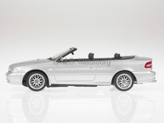 volvo c70 cabrio silber modellauto minichamps 1 43 ebay. Black Bedroom Furniture Sets. Home Design Ideas