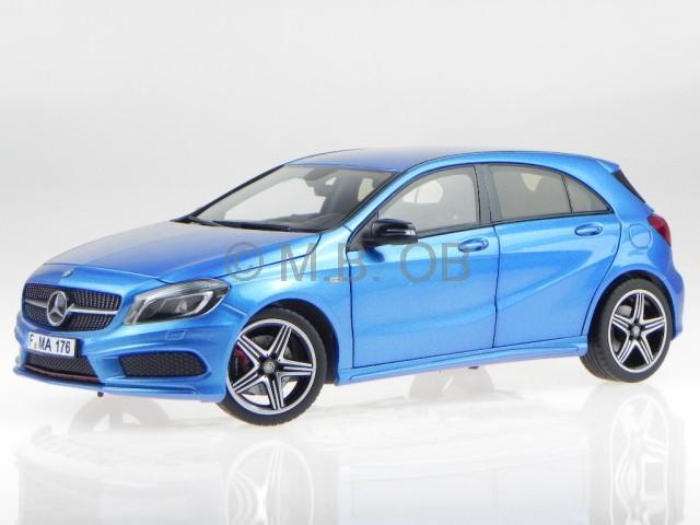 mercedes w176 a250 sport a klasse blau modellauto 183595 norev 1 18 ebay. Black Bedroom Furniture Sets. Home Design Ideas