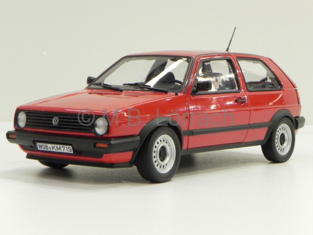 vw golf 2 cl 2 tuerer mars rot 1988 modellauto 188414 norev 1 18 ebay. Black Bedroom Furniture Sets. Home Design Ideas